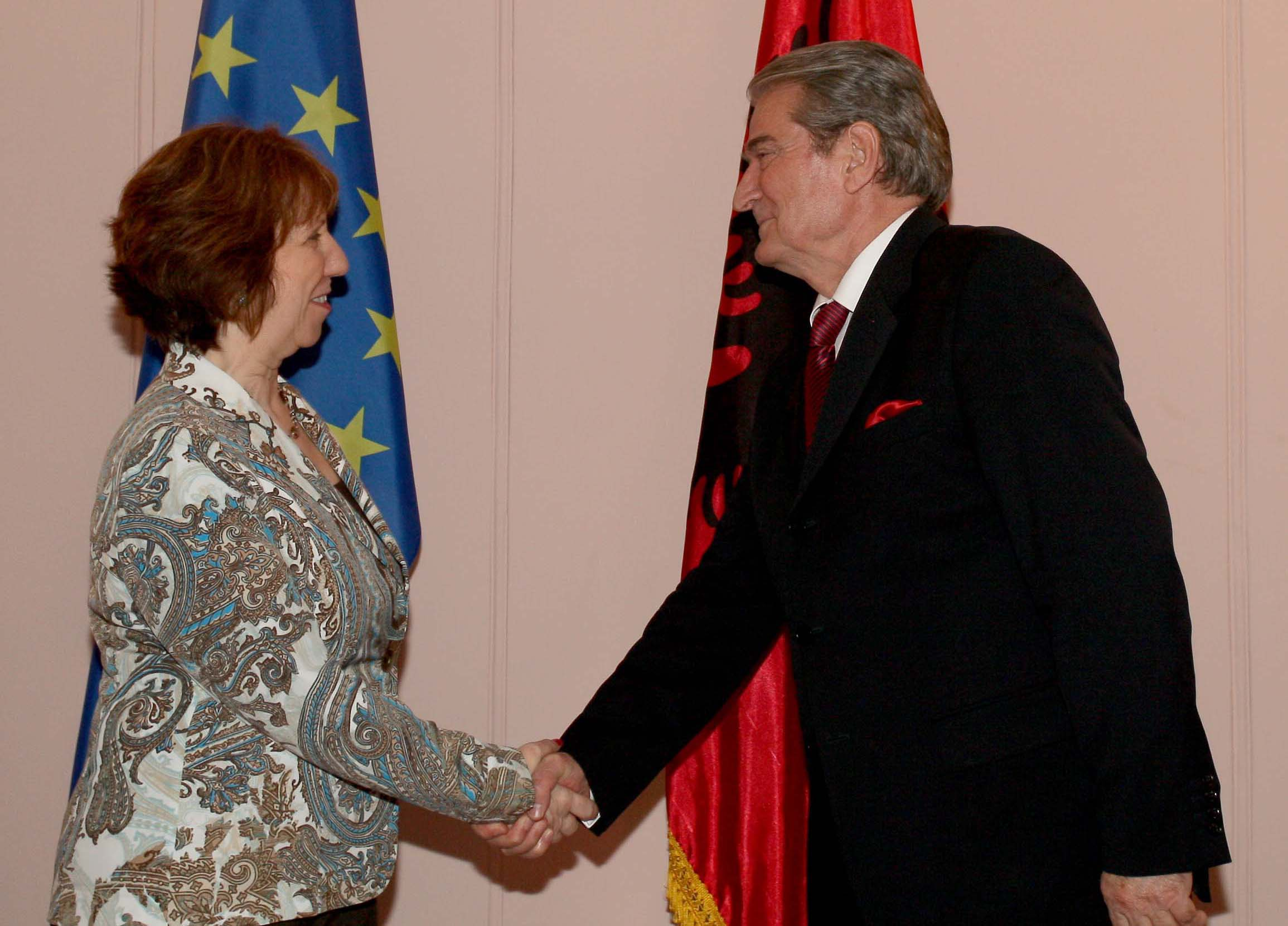 Albanian Prime Minister Sali Berisha meets Catherine Ashton, former High Representative of the Union for Foreign Affairs and Security Policy, SpotlightEurope_Zoela2