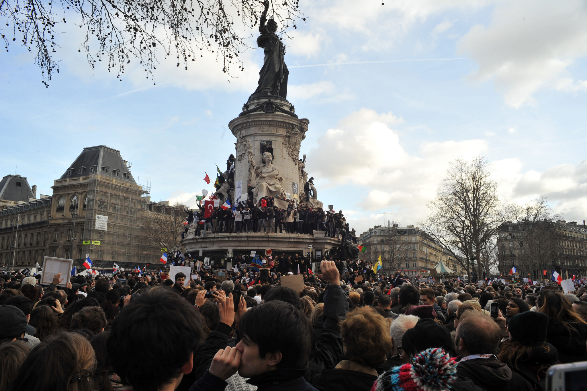 Marche Hommage Charlie hebdo Paris, Spotlight Europe
