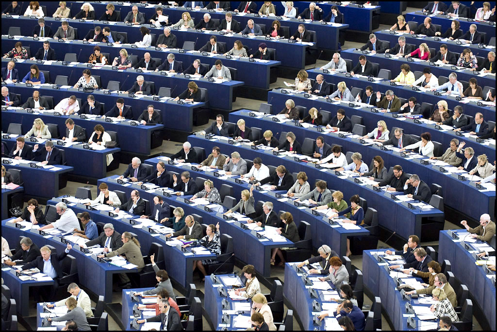 Scene of a plenary session in the European Parliament, Strasbourg, Spotlight Europe