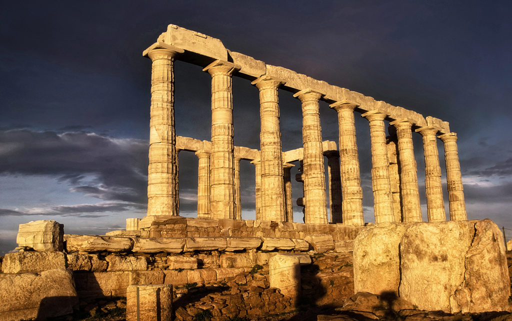 A Greek temple bathed in sunlight, Spotlight Europe