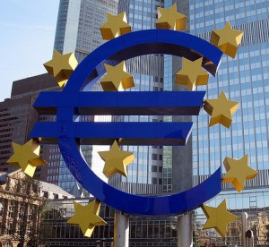 The Euro symbol in Frankfurt, Spotlight Euro